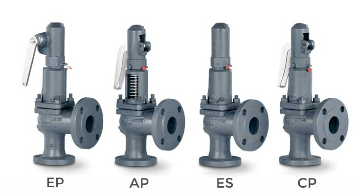 Full lift safety valve with spring loading (AIT) - Mod. 486 ASME