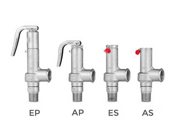 Full lift safety valve with spring loading. (AIT) - Mod. 985 ASME
